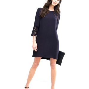 NWT French Connection Dress Navy Blue Lace NEW